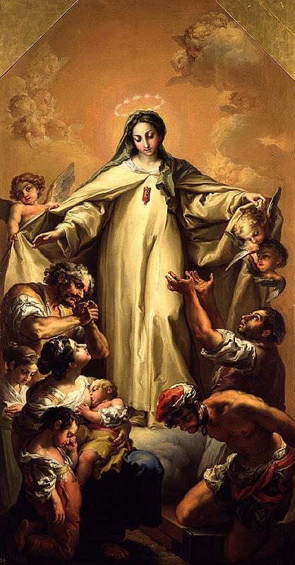 Resultado de imagen de Virgen de la Merced c on cautivos