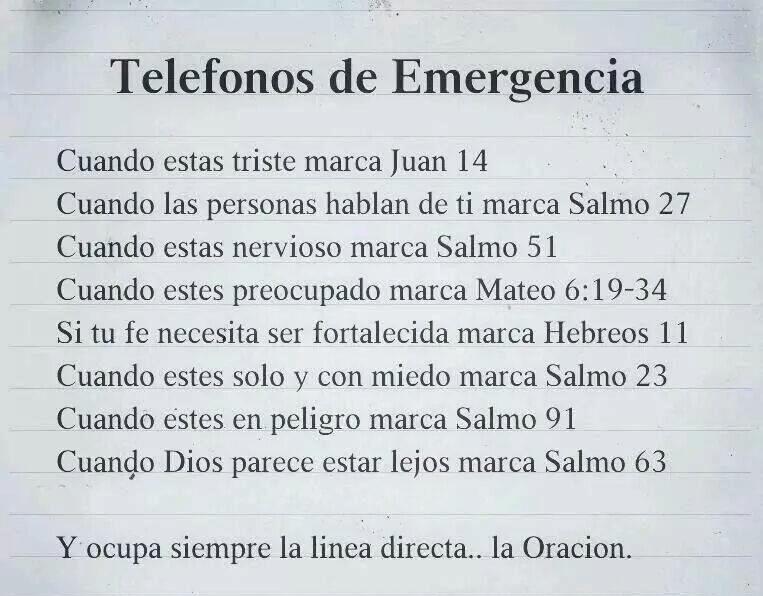 Citas Bíblicas De Emergencia Caminando Con Jesús De La Mano